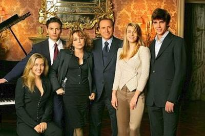 Family photo of the politician, dating Francesca Pascale, famous for Italy minister.