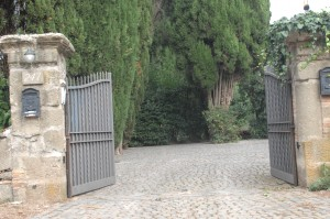 The cobbled entrance to a princely hideaway