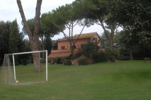 Own goal: The soccer pitch in front of Villa Nwanze